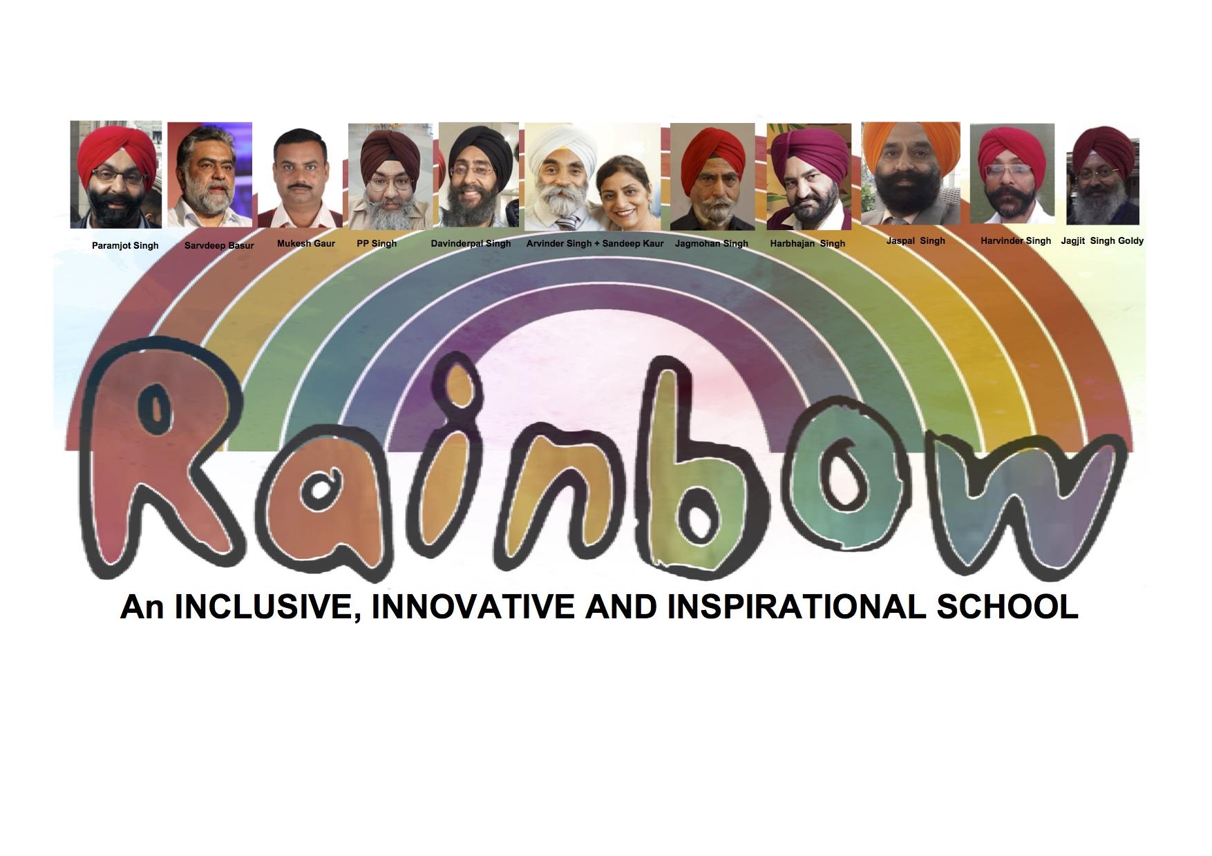 Rainbow Banner with photo's of Punjab Team (3)